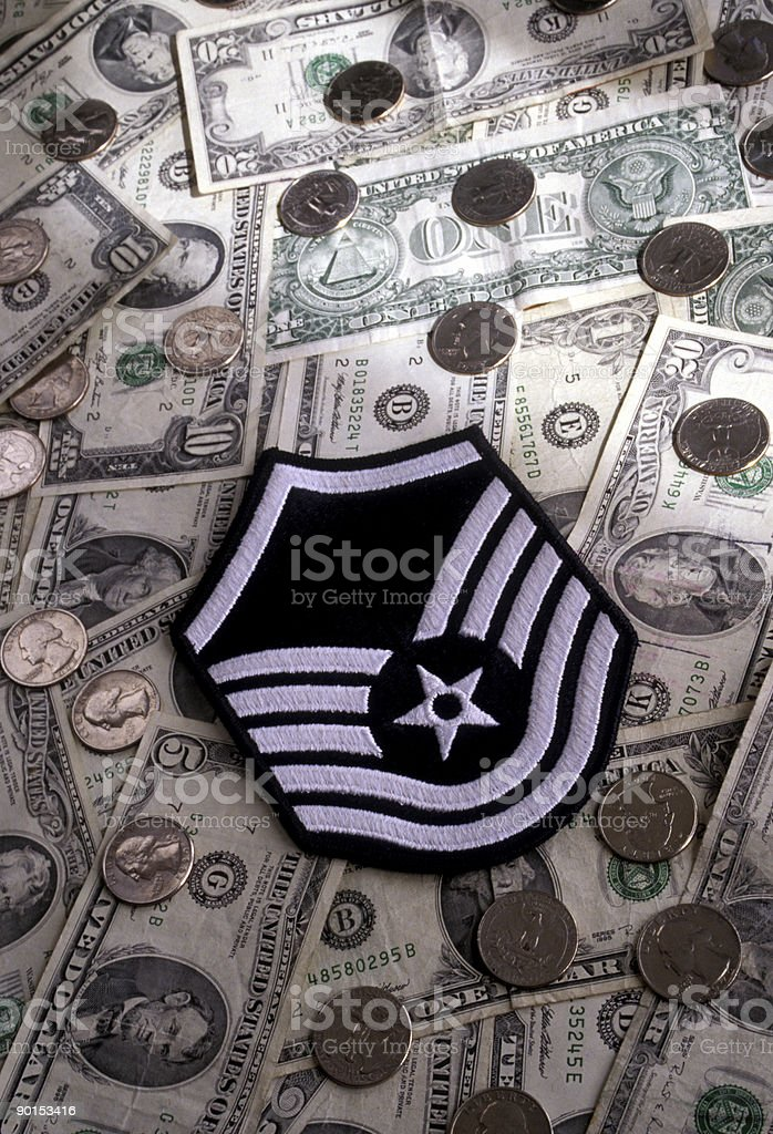 Low pay for military retirement stock photo