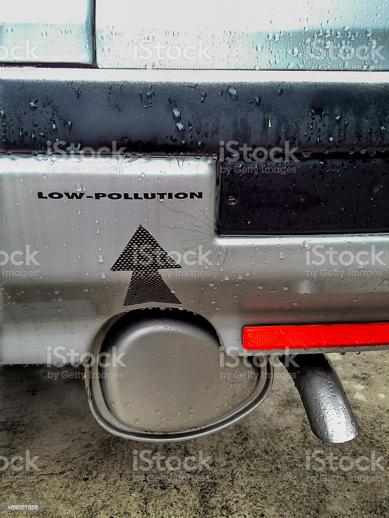 Low pollution car stock photo