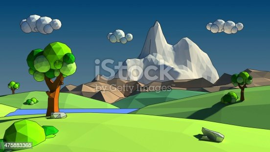 istock Low poly 3d environment 475883365