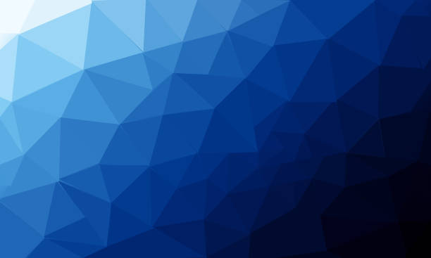 Low poly and triangles abstract background illustration stock photo