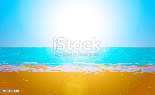 istock Low poly beach 531969198
