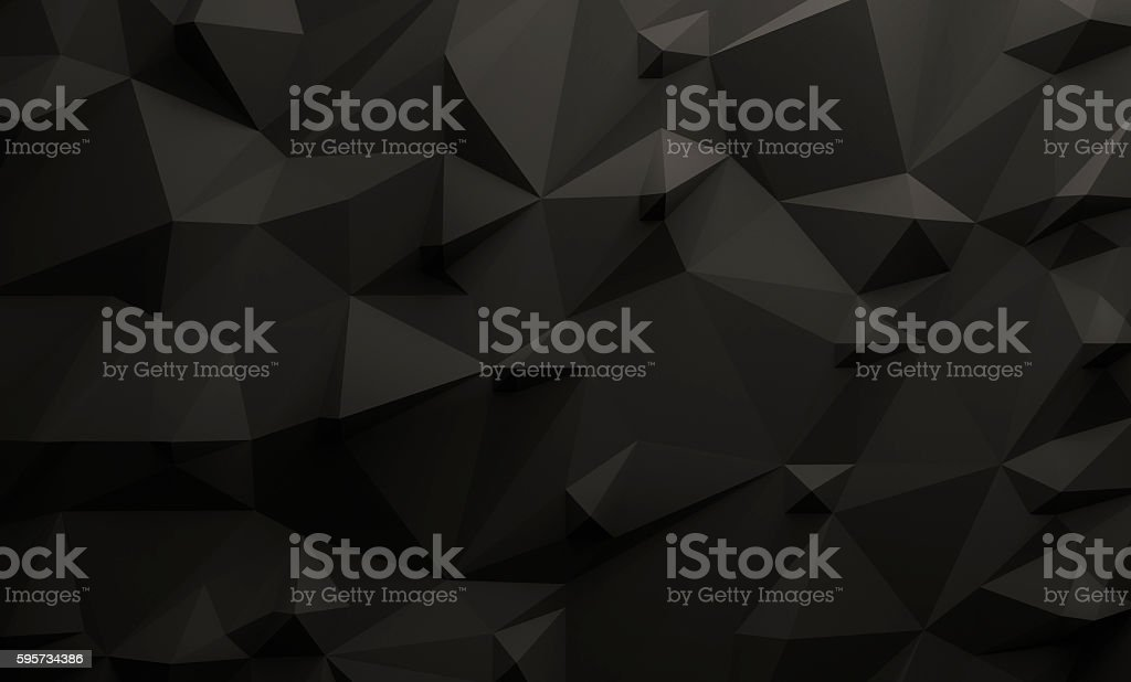 Low poly black background foto de stock royalty-free