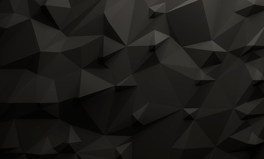 istock Low poly black background 595734386