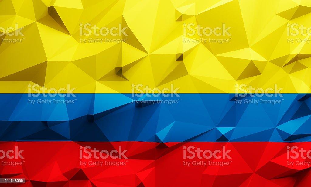 Low poly Colombia flag - foto de stock