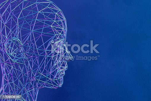 1064469672 istock photo 3D Low Poly Cyborg Head, Artificial Intelligence Concept 1209406167