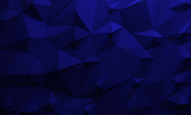 Low poly dark blue background - foto stock