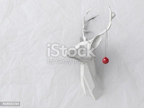 istock Low poly deer 848930294