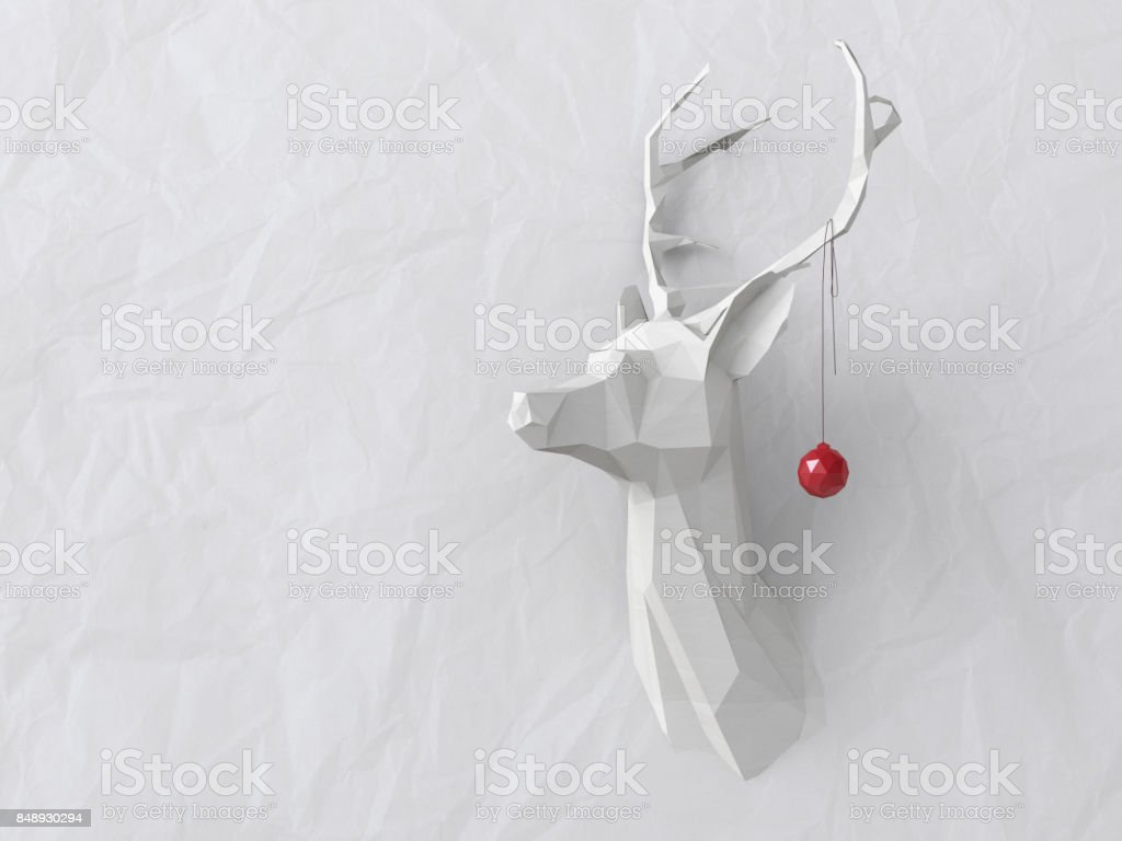 Low poly deer stock photo