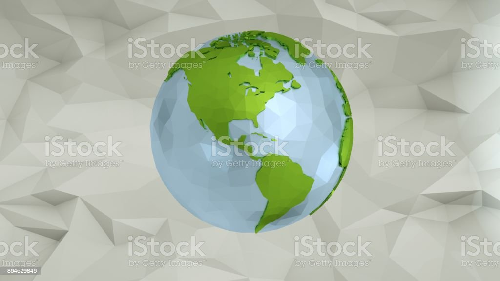 Low Poly Earth - Illustration stock photo