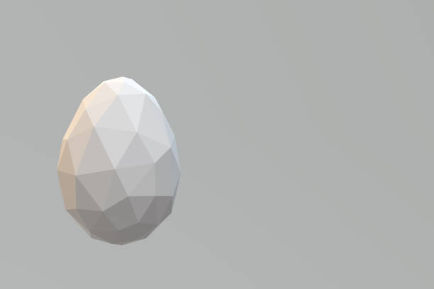 Low poly egg stock photo
