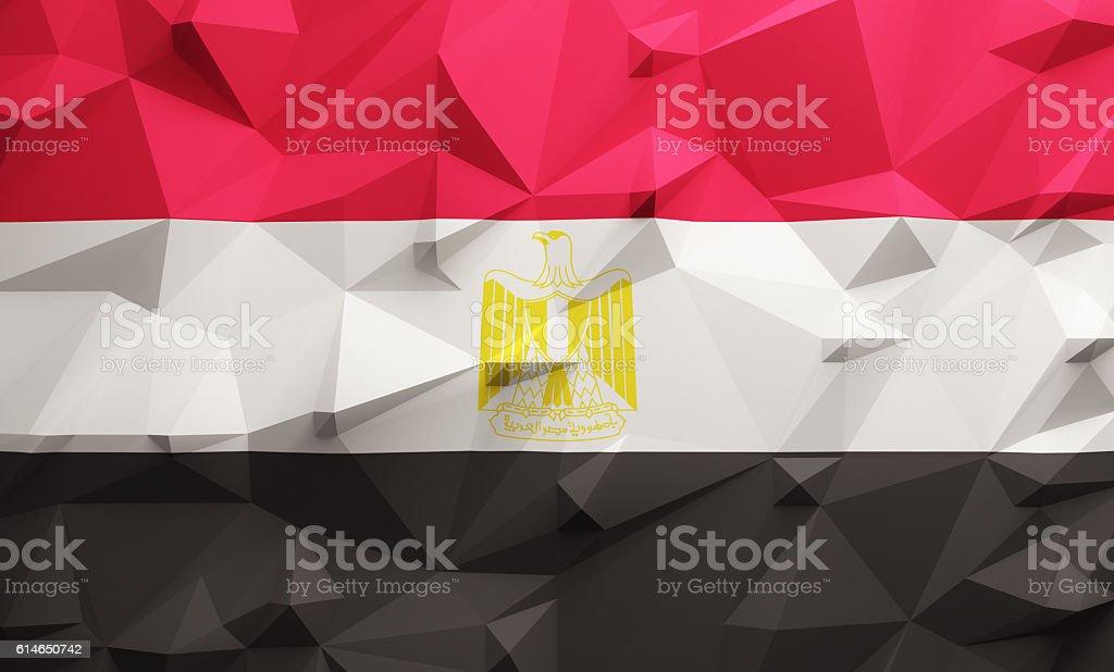 Low poly Egypt flag - foto de stock
