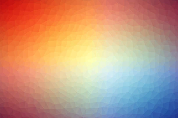 motif de fond abstrait coloré multi poly faible - forme bidimensionnelle photos et images de collection