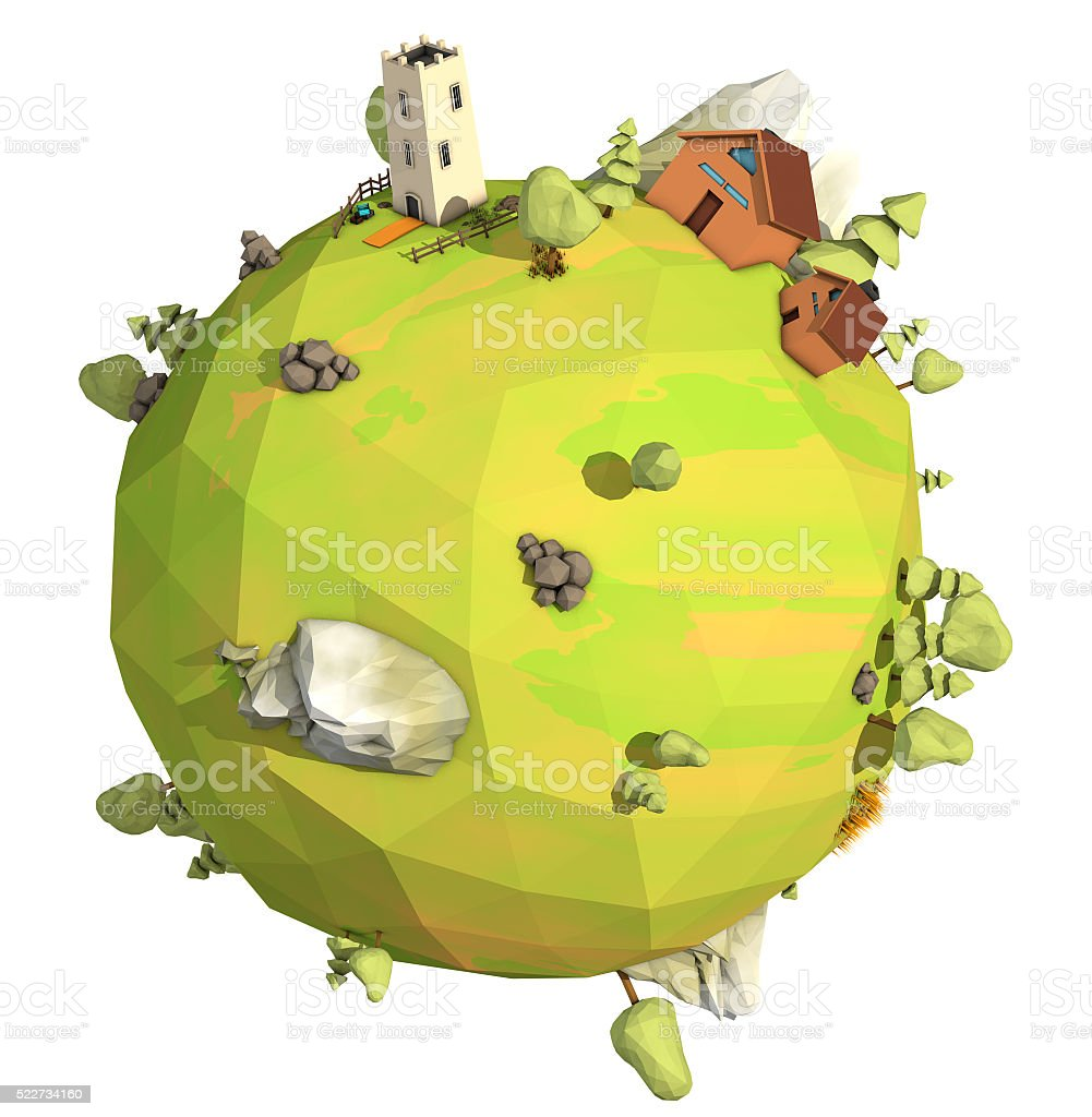 Low Poly world stock photo