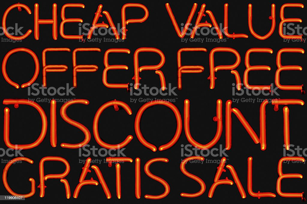 Low Price neon sign royalty-free stock photo
