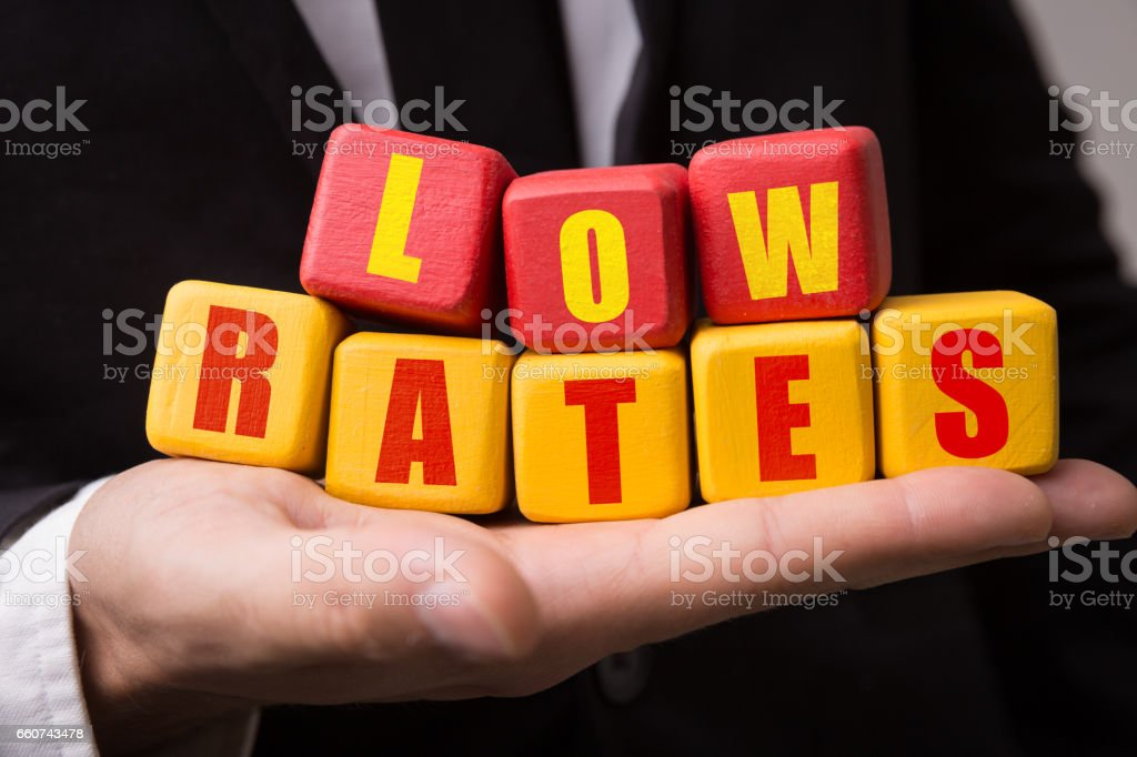 Low Rates royalty-free stock photo