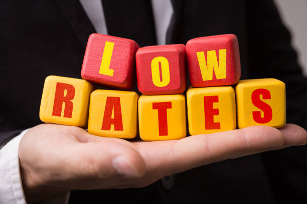 low rates - interest rate stock photos and pictures