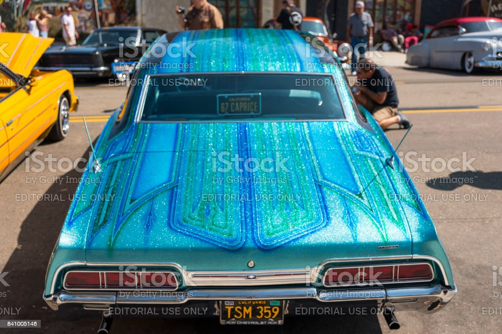 Low Rider Vehicles At Car Show San Diego California Stock Photo - San diego car show schedule