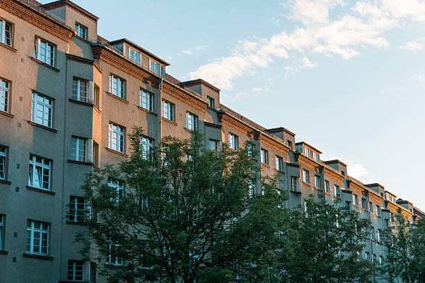 Low Rise Luxury Apartment Building in Warm Light - Photo