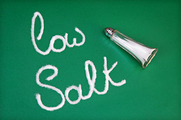 Low salt diet stock photo
