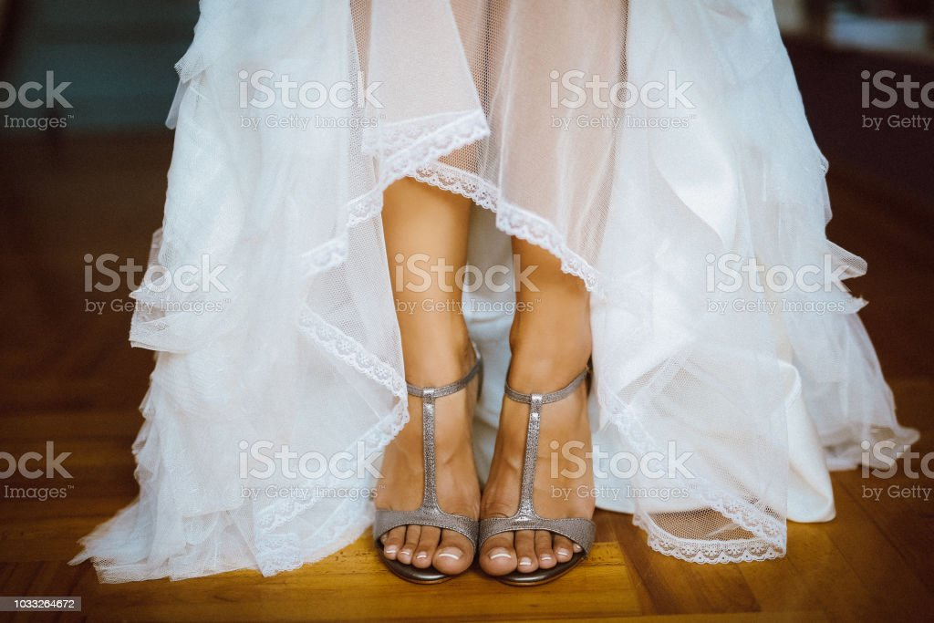 Low Section Of Bride In Wedding Dress And Sandals Standing At Home Stock Photo Download Image Now Istock,Wedding Dresses For Mens In Sri Lanka