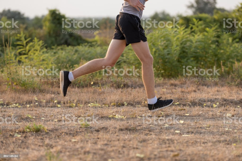 Low section of jogger royalty-free stock photo