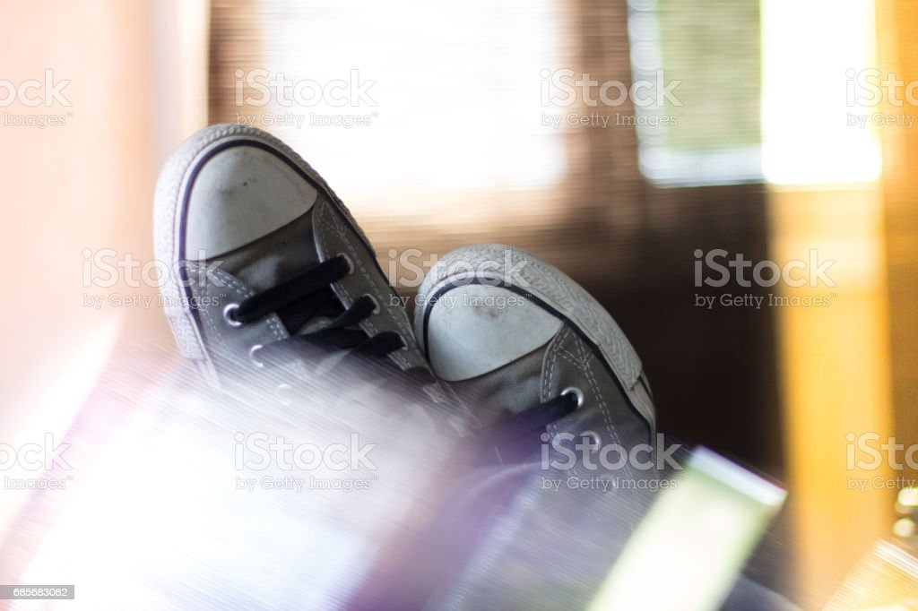 Low Section Of Man Relaxing royalty-free stock photo