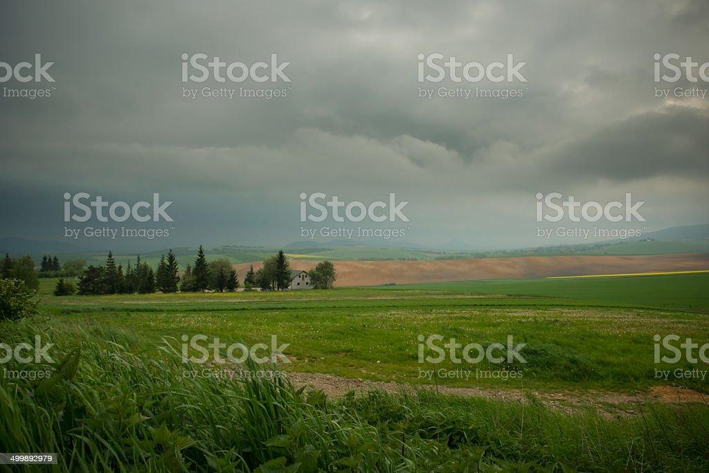 Low sky of Slovak stock photo