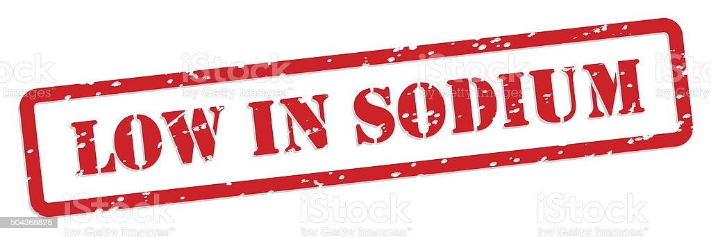 Low Sodium Rubber Stamp stock photo