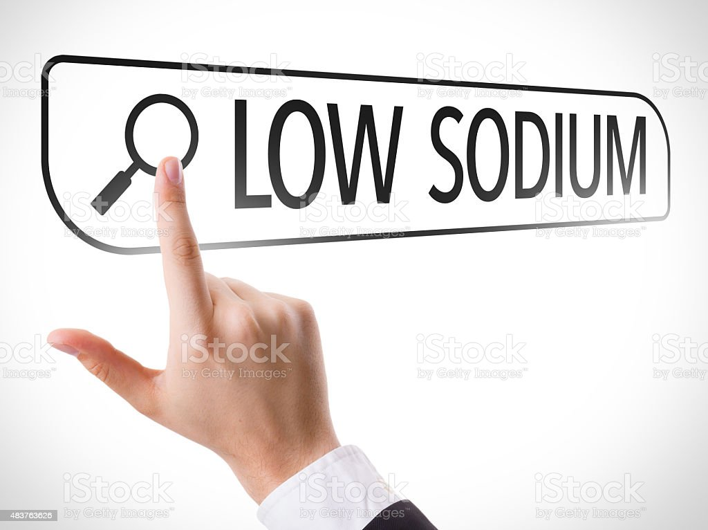 Low Sodium written in search bar on virtual screen stock photo