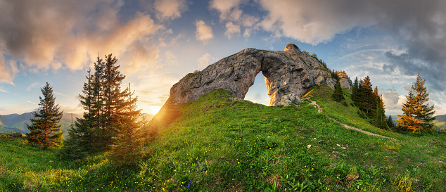 istock Low Tatra mountain summer landscape panorama. meadow with huge stones among the grass. 1178503509