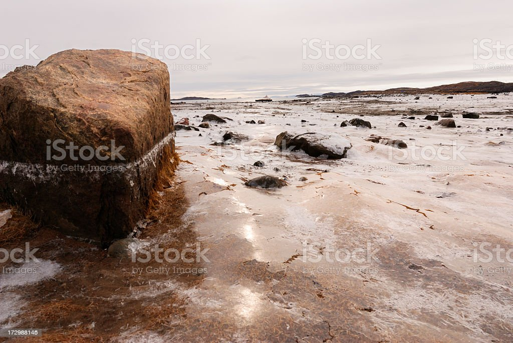 Low Tide and Ice, Baffin Island. royalty-free stock photo