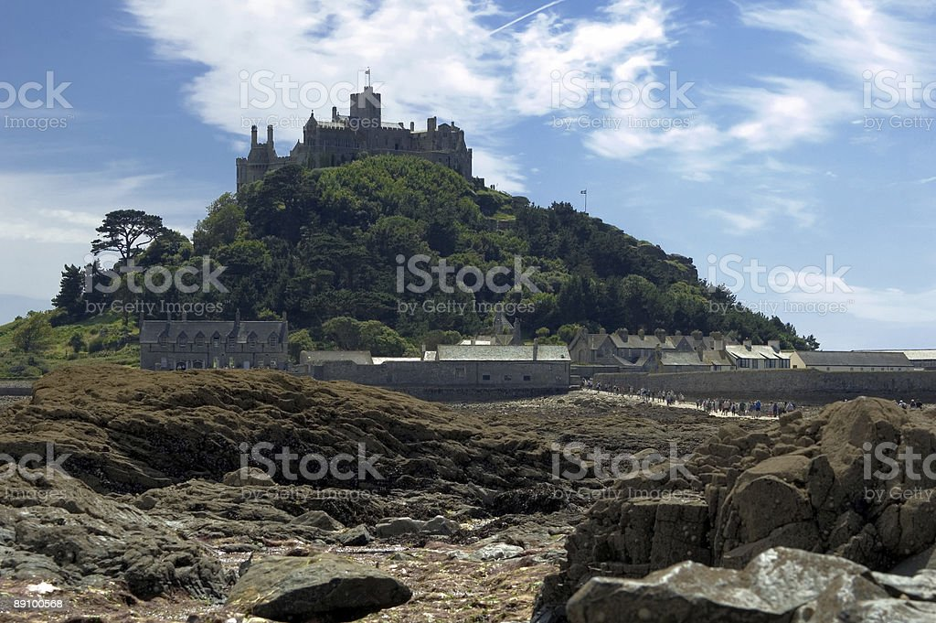 Low Tide at St Michaels Mount royalty-free stock photo