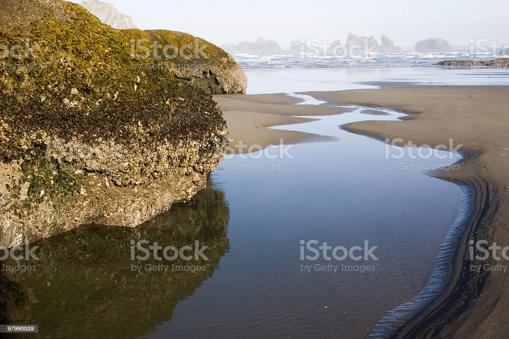 Low Tide at the Sea Stacks royalty free stockfoto