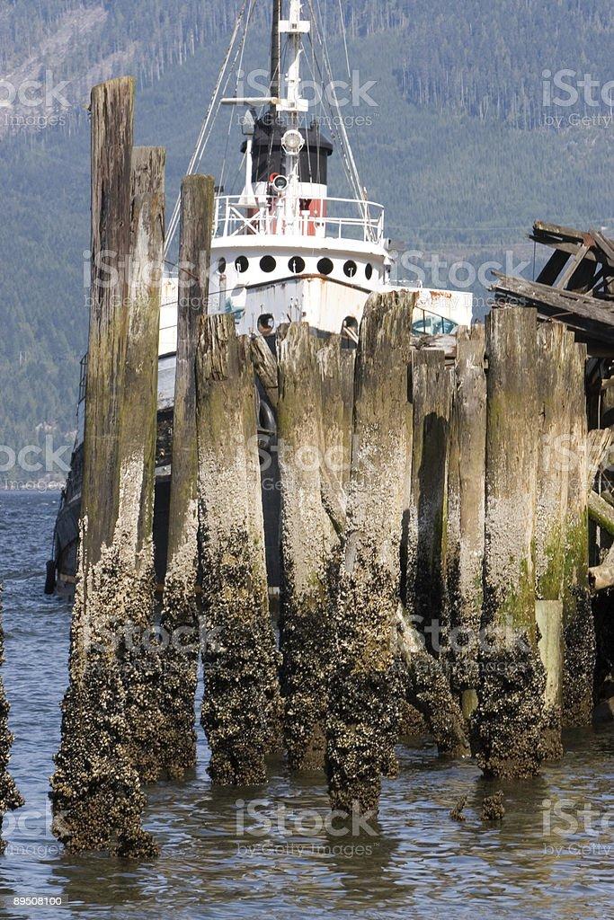 Bateau à marée basse photo libre de droits