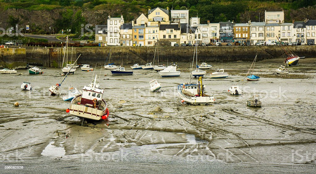 Low Tide in Normandy royalty-free stock photo