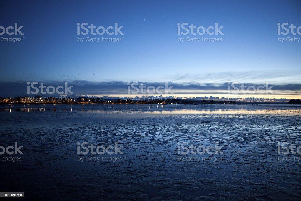 Maré baixa na sul da Inglaterra, Dorset foto royalty-free