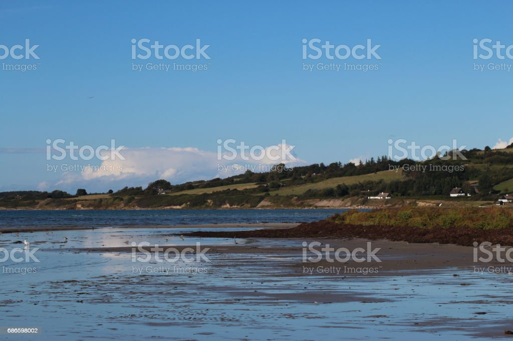 Low tide in the inlet royalty-free stock photo