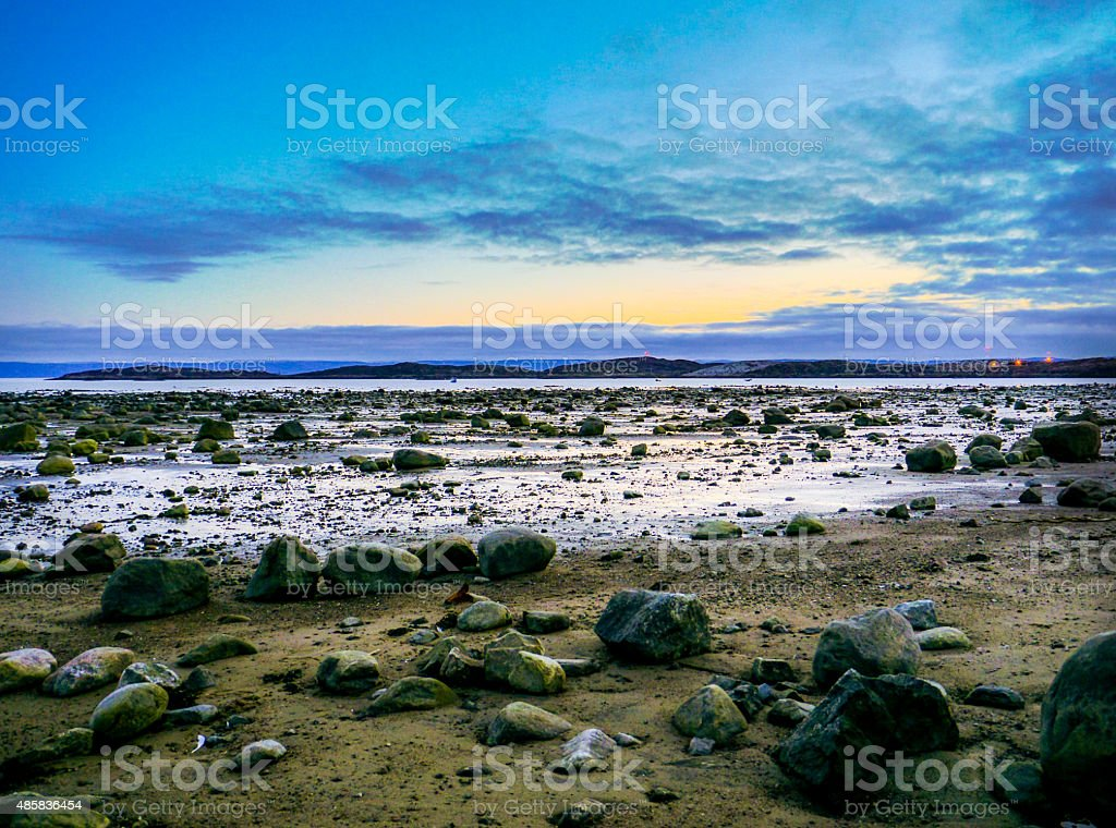 Low tide - Iqaluit stock photo