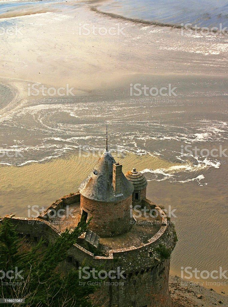 Low tide, Mont Saint-Michel, France stock photo