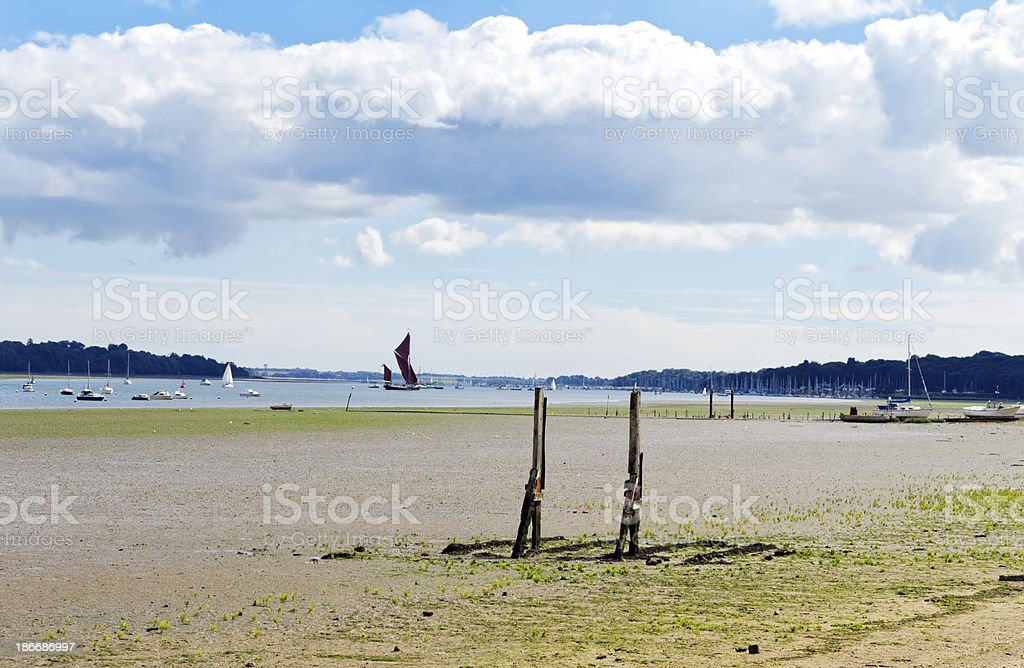 Low tide on the Orwell royalty-free stock photo
