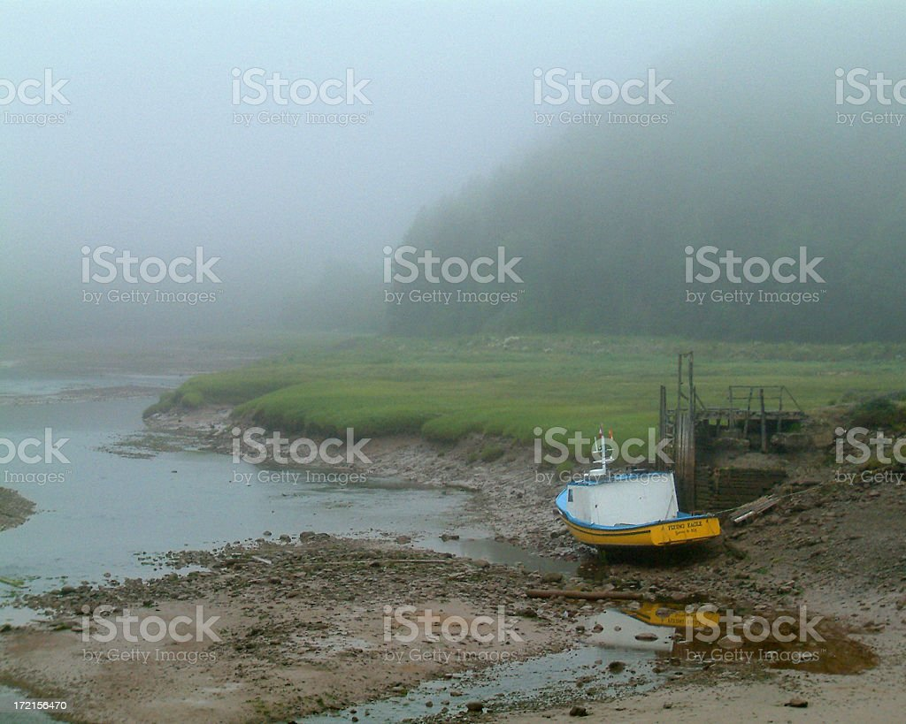 Low tides at Fundy Bay royalty-free stock photo