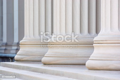 Low view of columns in a row.