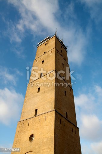 172424642 istock photo Low view of lighthouse 172775056