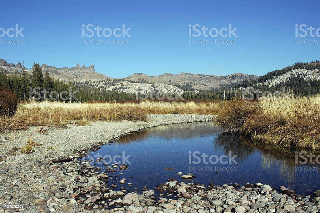 Low Water Stream stock photo