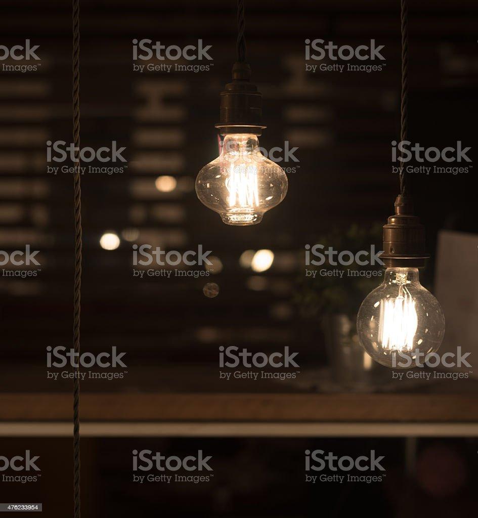 ... Low Watt Tungsten Bulbs stock photo ... & Close Up Glowing Light Bulb Retro Style Filament Lamp Macro ... azcodes.com