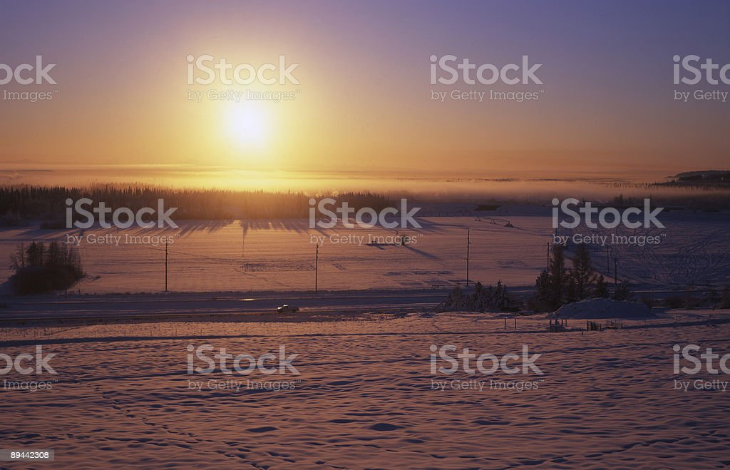 A sole invernale foto stock royalty-free