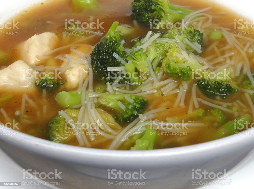 Lowcalorie Lowcarb Bowl Homemade Chicken Noodle Soup Broth