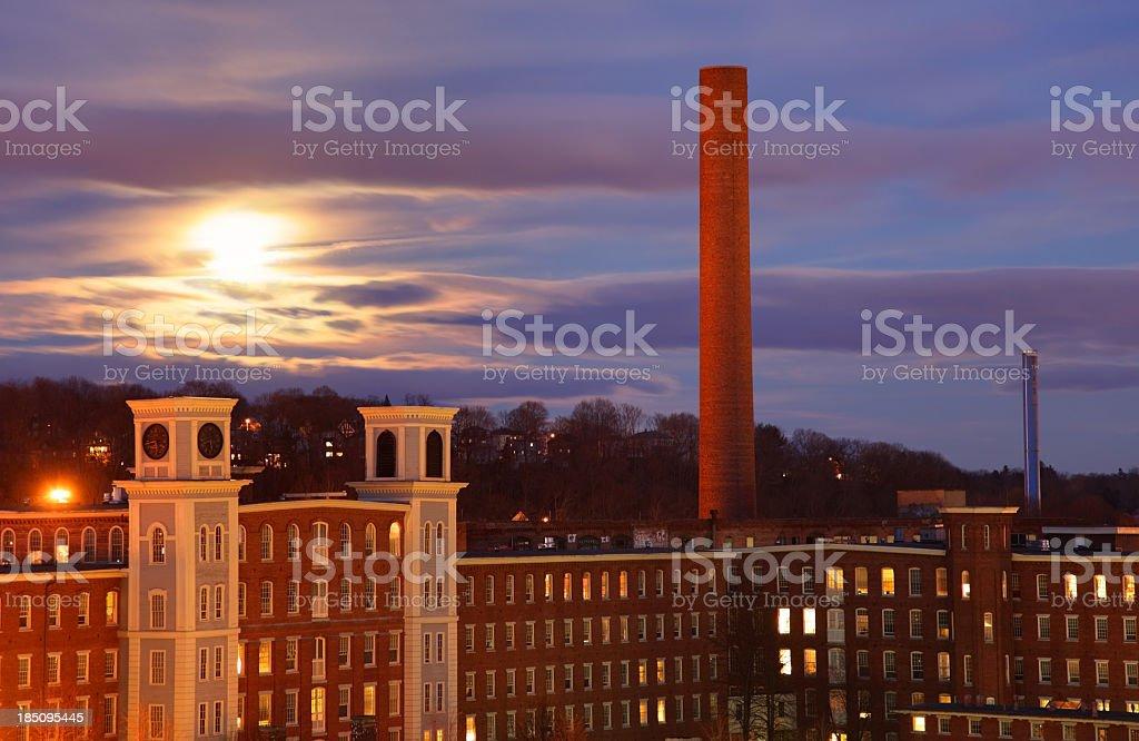 Lowell Moonrise stock photo
