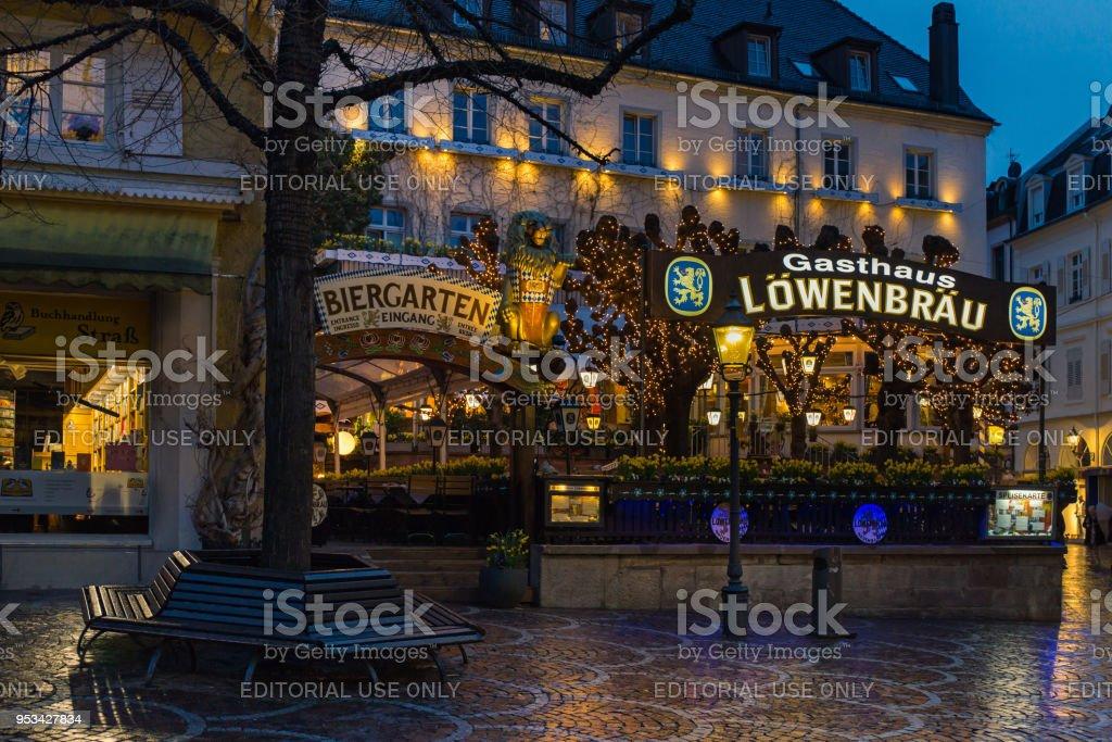 Lowenbrau pub in Baden-Baden стоковое фото