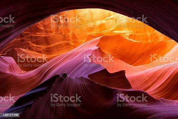 Lower Antelope Canyon Arch Drenched In Sunlight Stock Photo - Download Image Now